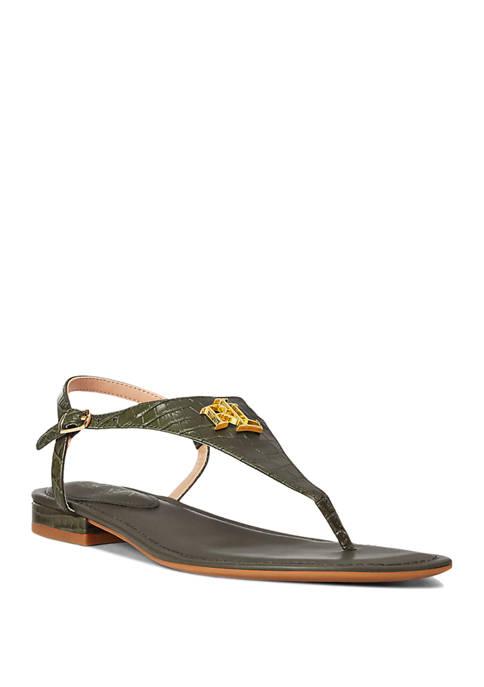 Lauren Ralph Lauren Ellington Logo Thong Sandals