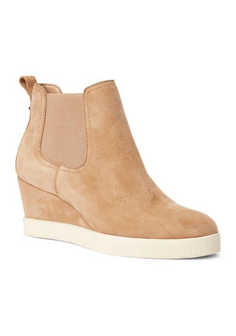 Lauren Ralph Lauren Reade Suede Wedge Sneakers
