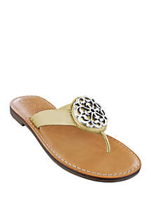 Alice Medallion Flat Sandals - Available in Extended Sizes