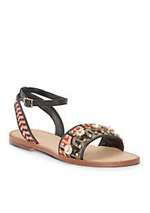 Vcakitta Flat Jeweled 2-Piece Sandal