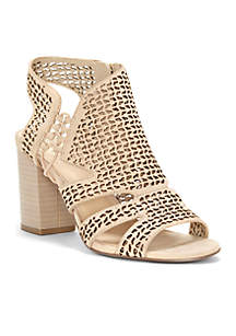 Brindita Stacked Heel Sandal