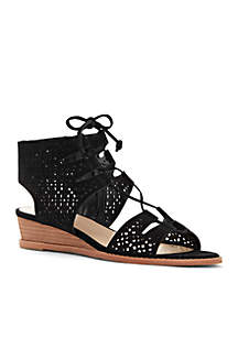 Retana Lace-Up Wedge Sandals