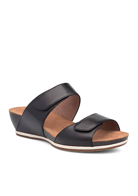 Dansko Vienna Black Full Grain Sandal