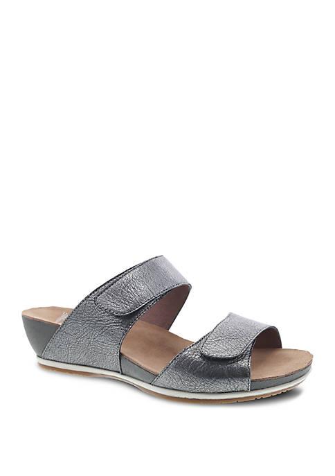 Dansko Vienna Graphite Sandals