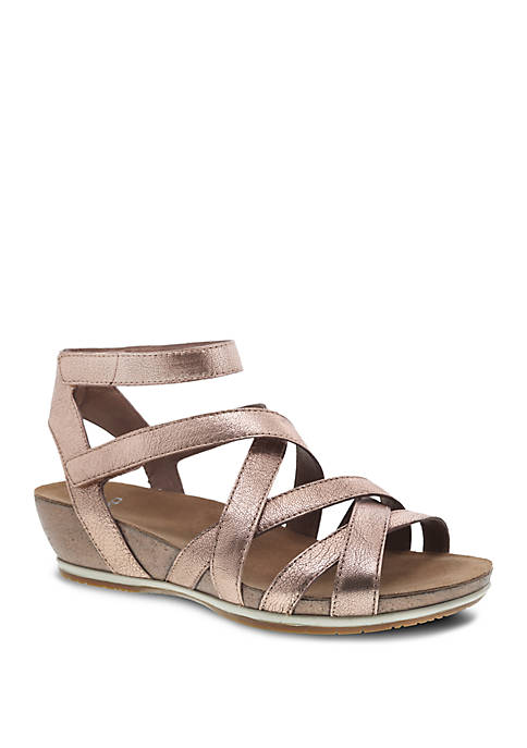 Dansko Veruca Rose Gold Sandals