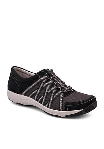 Dansko Honor Black Suede Sneaker Y7CjOYZ