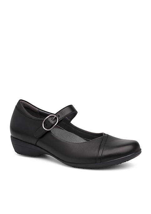 Dansko Fawna Black Milled Nappa Shoe