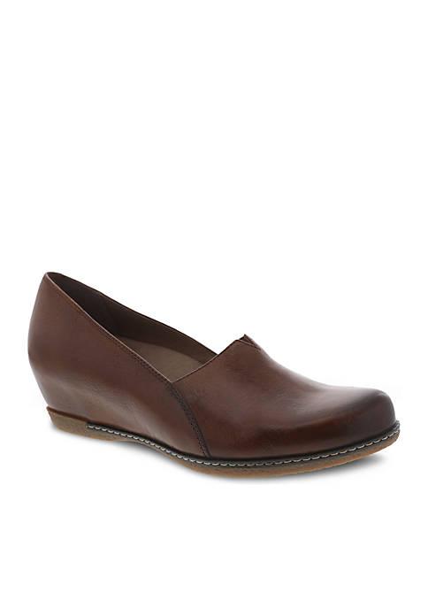 Dansko Liliana Chestnut Burnished Shoe
