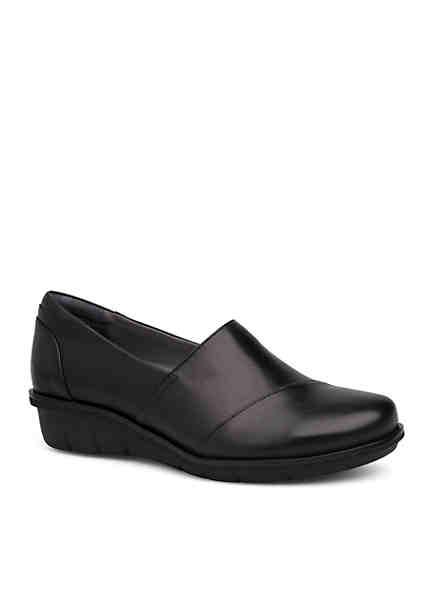 Dansko Julia Black Milled Nappa Shoe