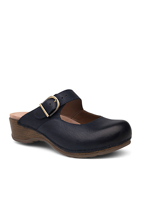 Dansko Martina Navy Burnished Nubuck Flat