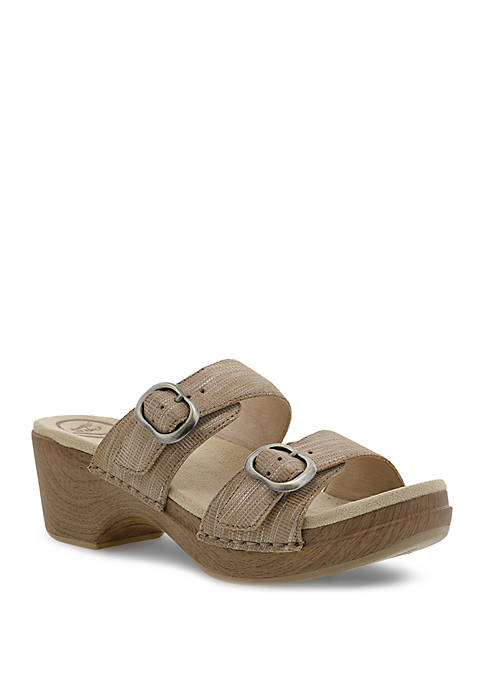 Sophie Tan Metallic Sandals