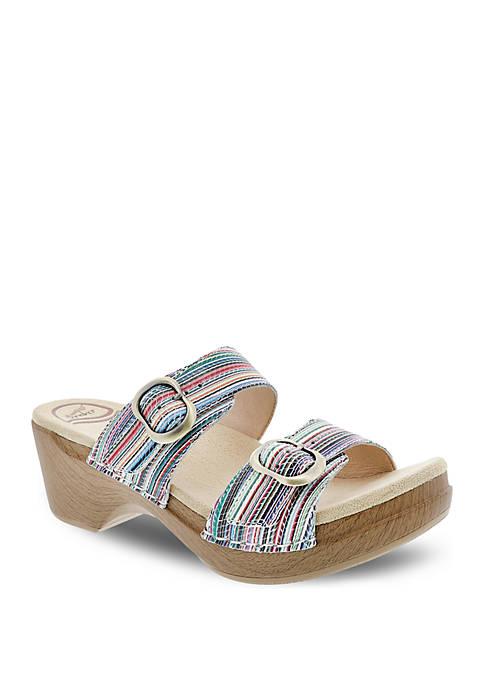Dansko Sophie Multi Stripe Sandals