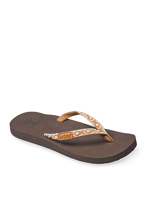 Reef Ginger Soft Slim Woven Strap Sandals
