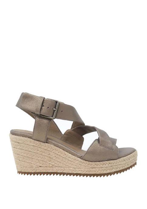 Eileen Fisher Beckon Wedge Espadrille Sandals
