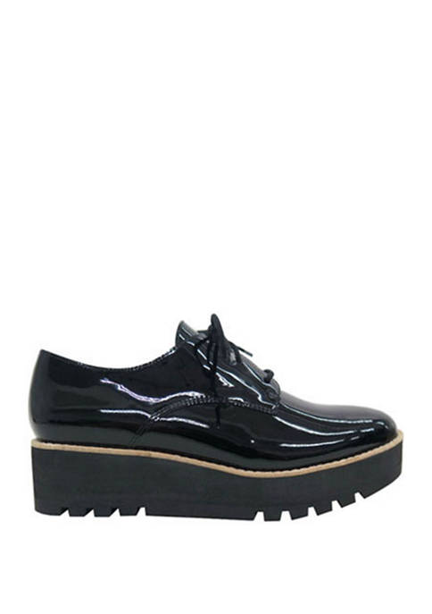 Eileen Fisher Eddy Patent Oxford Shoes