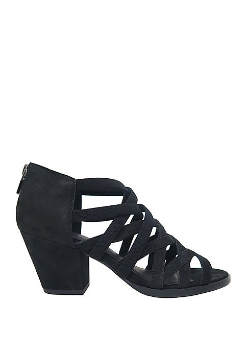 Eileen Fisher Fara Stretch Criss Cross Heel Sandals