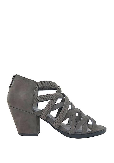 Eileen Fisher Fara Stretch Criss Cross Heel Sandals