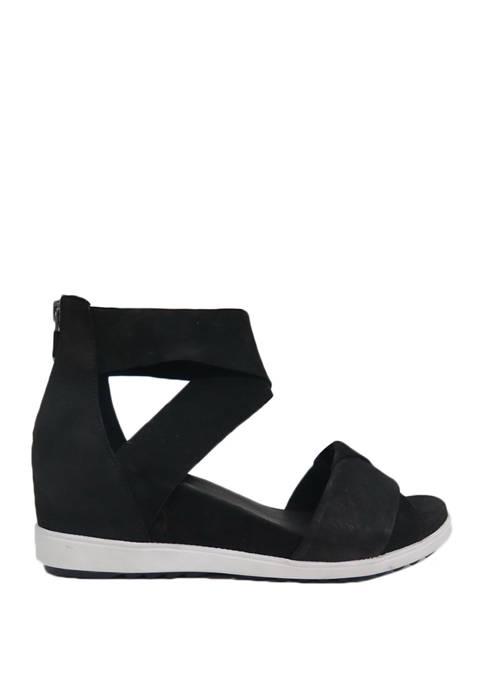 Eileen Fisher Stretch Sport Wedge Sandals