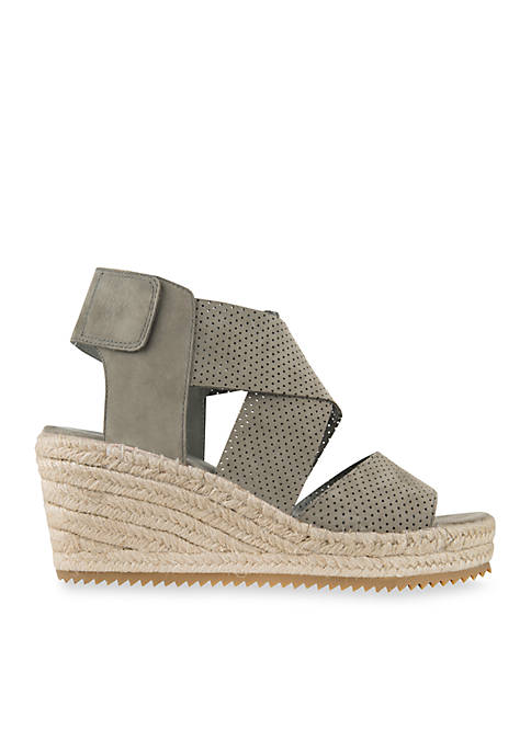 Eileen Fisher Willow Tumbled Leather Wedge Espadrille