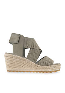 Willow Tumbled Leather Wedge Espadrille