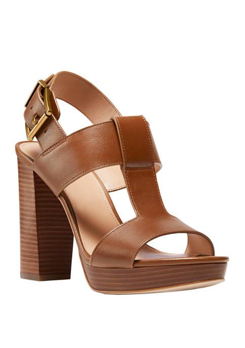 MICHAEL Michael Kors Becker T Strap Sandals