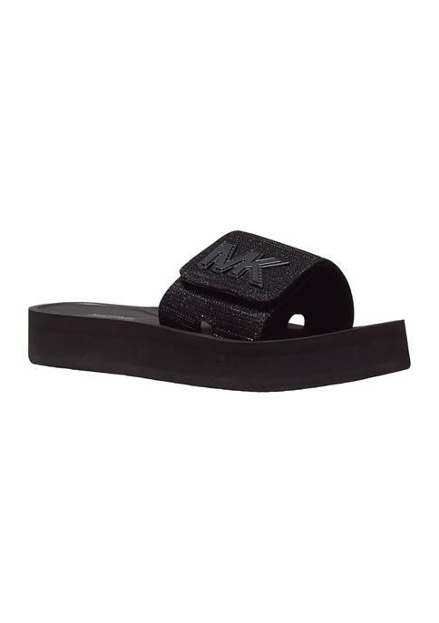 MK Platform Slide Sandals
