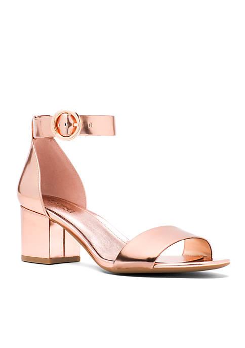 Lena Mid Heel Block Sandal