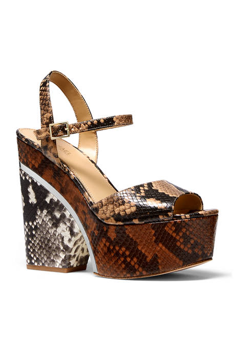 MICHAEL Michael Kors Lana Color-Block Python Embossed Leather