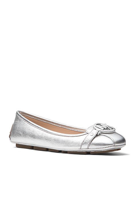 MICHAEL Michael Kors Fulto Moc Metallic Washed Leather