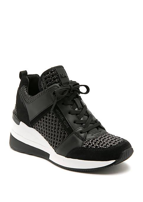MICHAEL Michael Kors Womens Georgie Wedge Trainer Sneakers