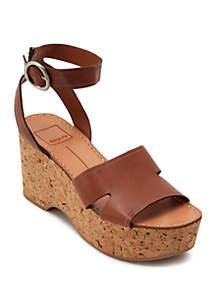 Dolce Vita Linda Cork Wedge Sandals