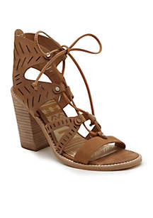 Dolce Vita Luci Tie Front Stacked Heel