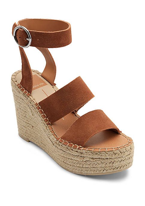 Dolce Vita Shae Asymmetrical Espadrille Wedge Sandals