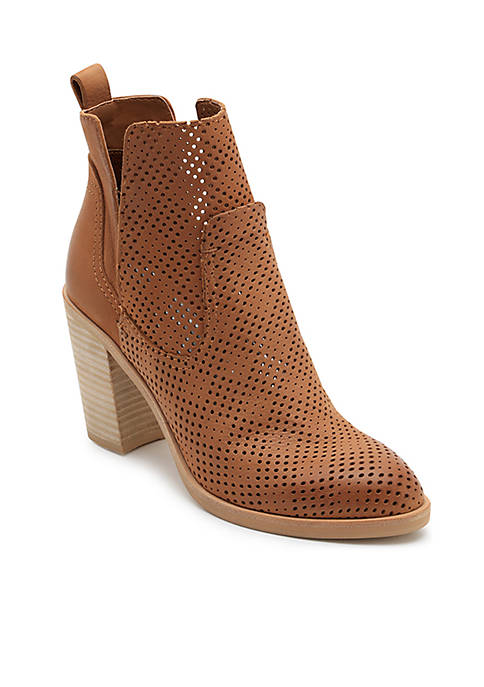 Dolce Vita Shay Perforated Stacked Heel Bootie