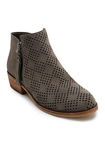Sofie Perforated Suede Bootie