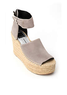 Straw Ankle Strap Espadrilles