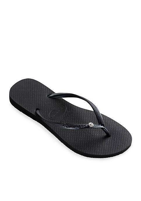 Slim Crystal Glamour Flip Flops