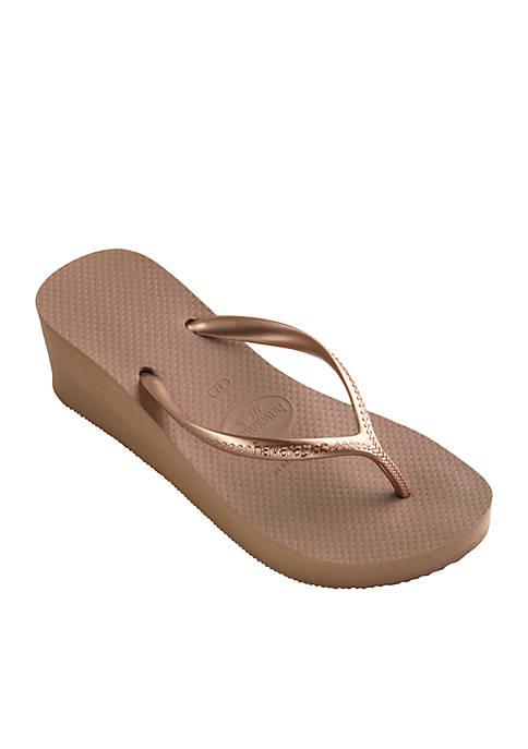 High Fashion Wedge Flip Flops