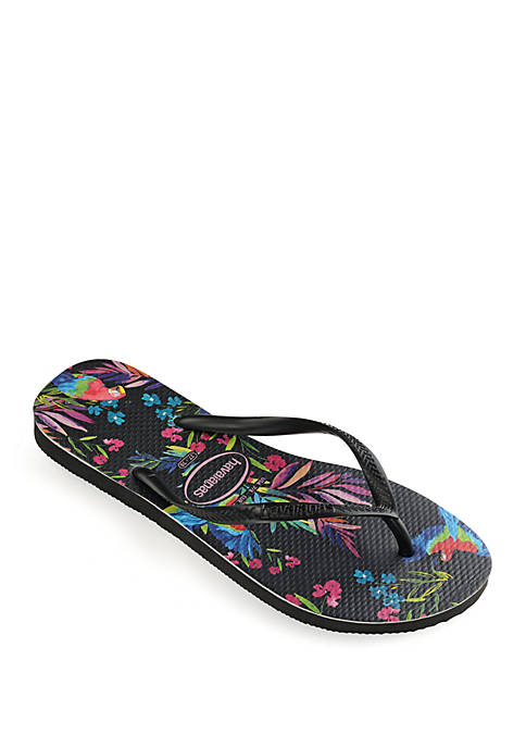 Slim Tropical Floral Sandal