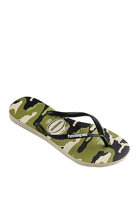 Slim Camo Flip Flop Sandals