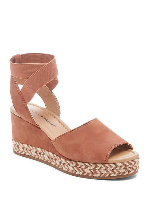 Stretch Ankle Wedge Sandals