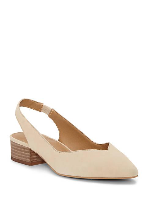 Lucky Brand Caedman Slingback Stacked Heels