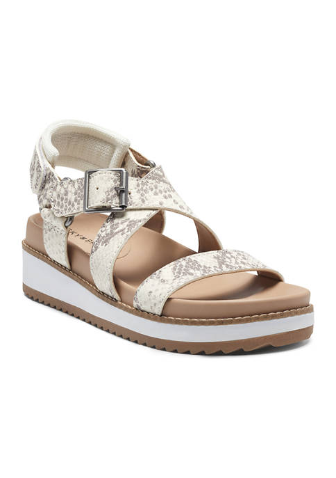 Denia Strappy Wedge Sandals