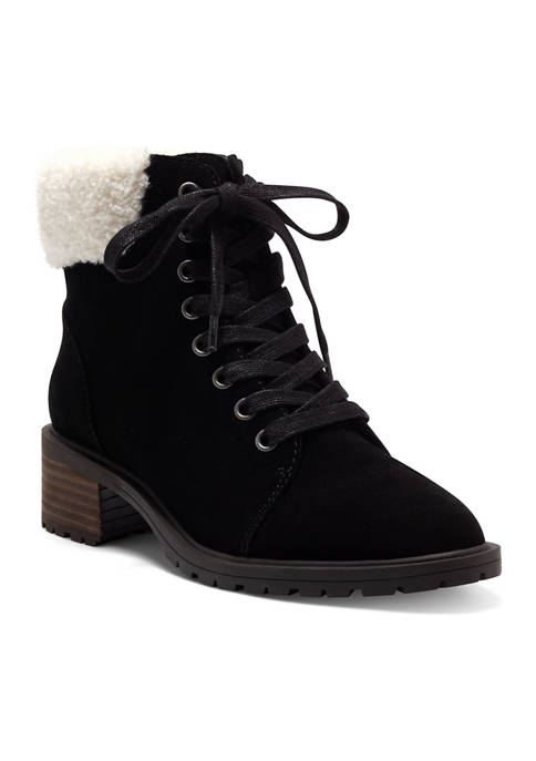 Lucky Brand Jacenia Lace Up Shearling Boots
