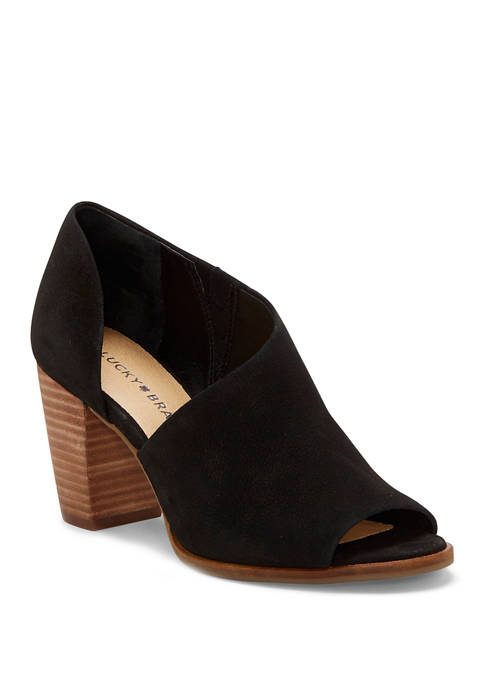 Lucky Brand Jexa Stack Heel Sandals
