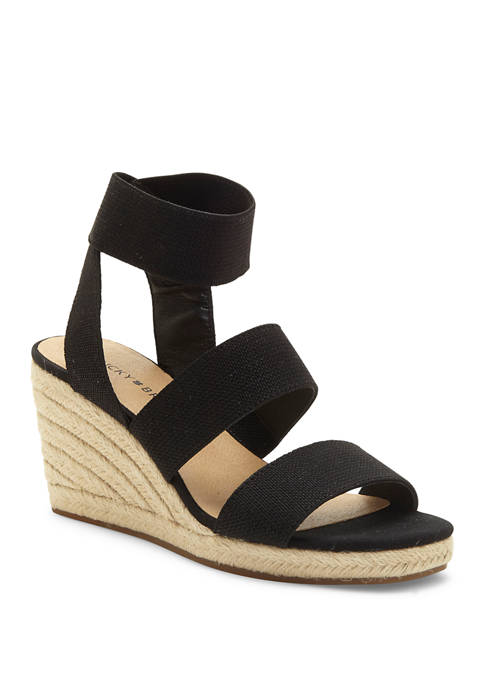 Lucky Brand Mindara Espadrille Wedge Sandals