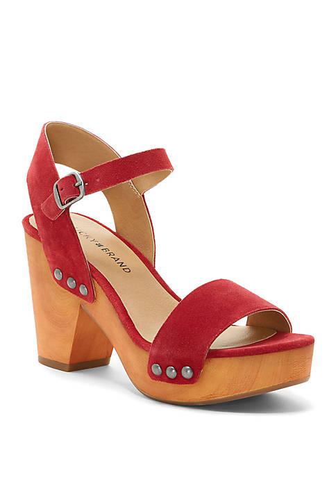 Trisa Wood Platform Sandals