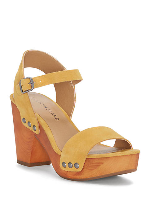 800cd799ec3c Lucky Brand Trisa Wood Platform Sandals