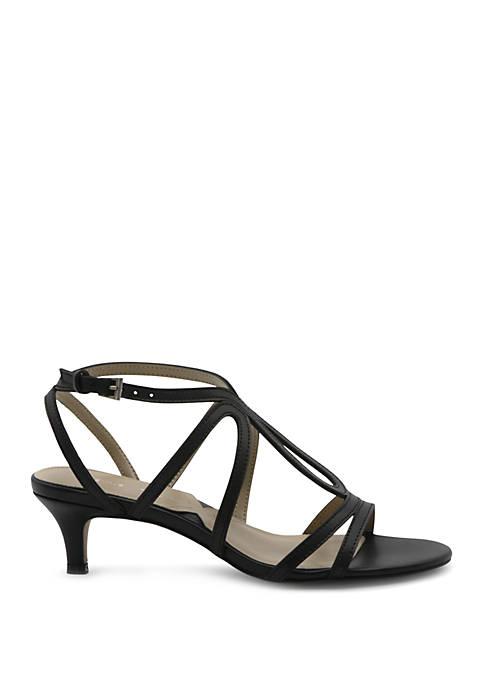 Adrienne Vittadini Safara Strappy Kitten Heel Sandals