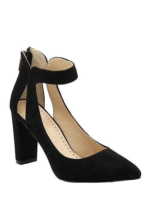 Adrienne Vittadini Nieves Ankle Strap Pumps